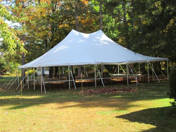 30x40 Pole Tent White
