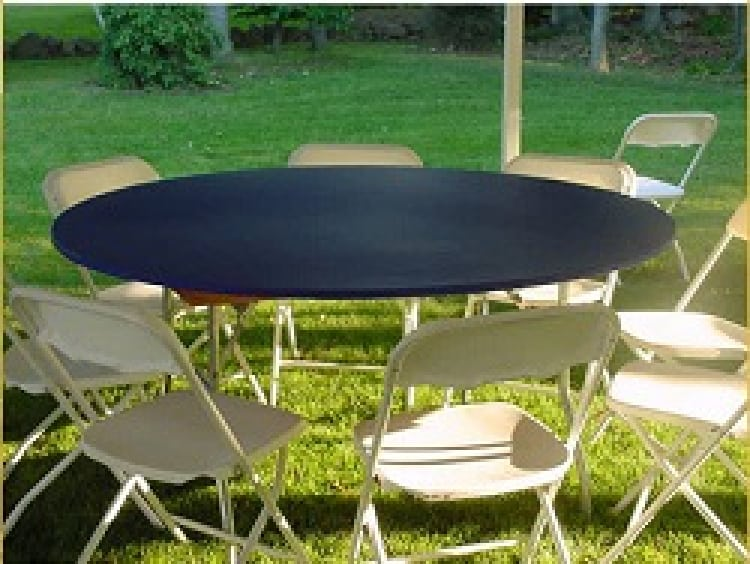 Fitted Plastic Table Clothes - Kwik Cover