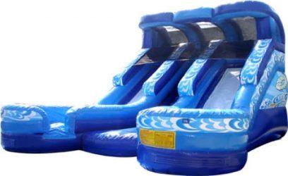 Double Splash Water Slide Length 25 x Width 22 x Height 19