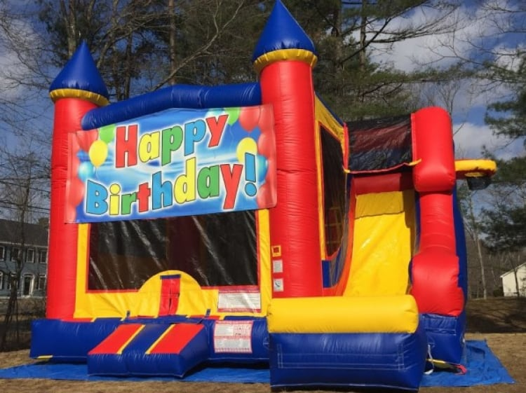 Castle Slide Happy Birthday - 18' x 17' Bounce House