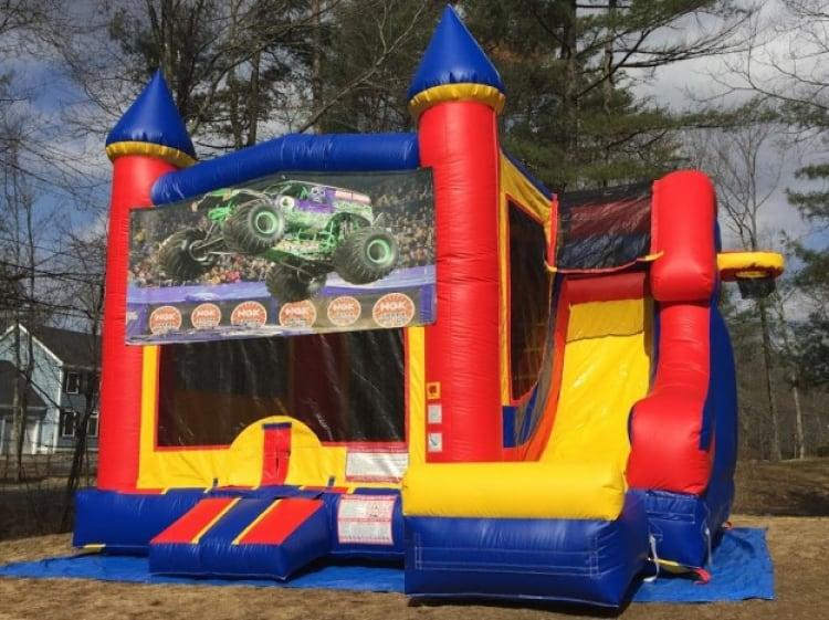 Monster Truck Castle Slide - 18' x 17' Outside Slide