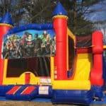 Superheroes Castle Slide - 18' x 17' Outside Slide