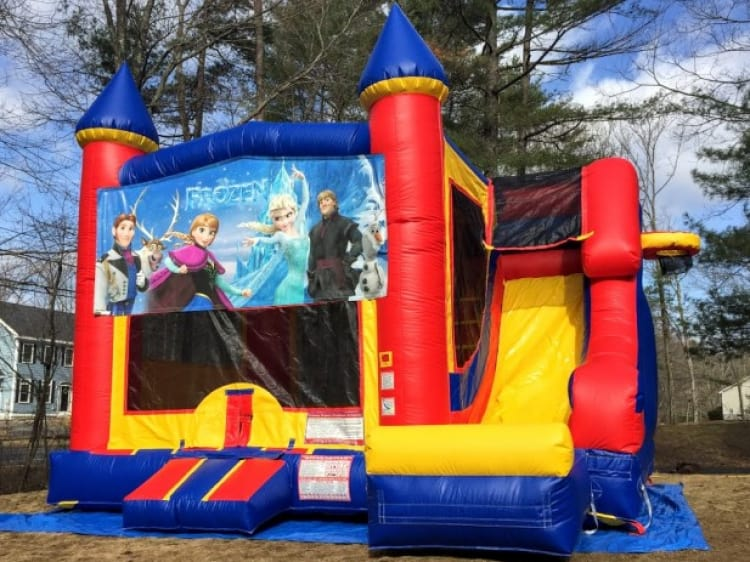 Castle  Slide Frozen - 18' x 17' Bounce House