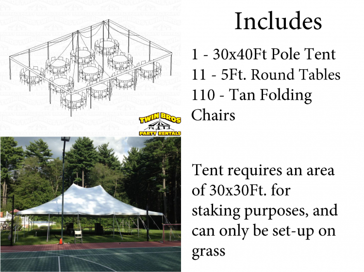 110 Person Tent Package