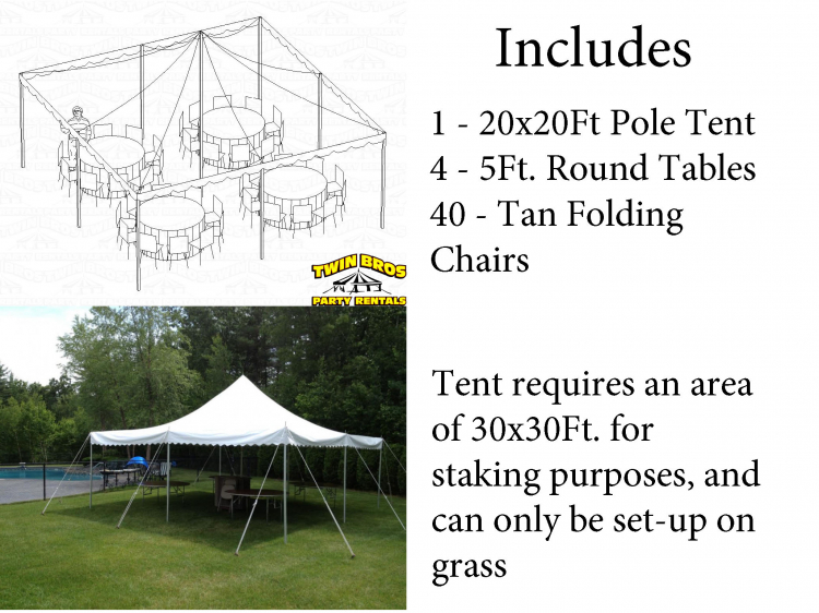 40 Person Tent Package