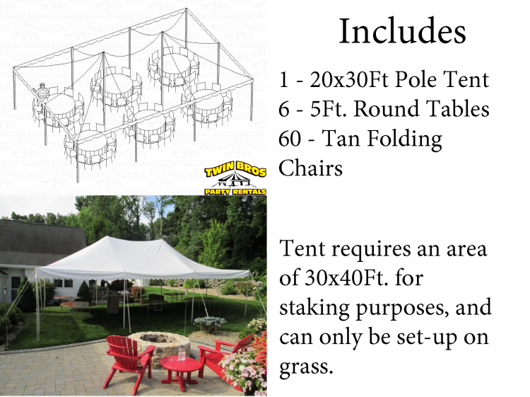 60 Person Tent Package