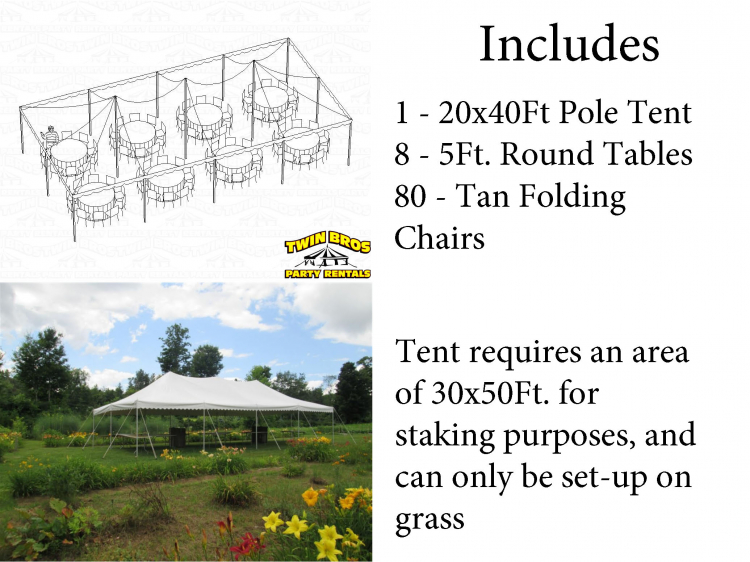 80 Person Tent Package