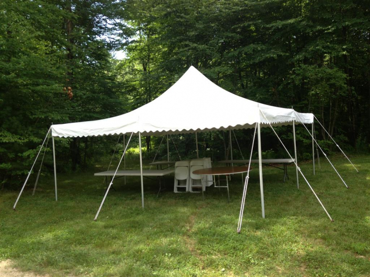 20x20 Pole Tent White