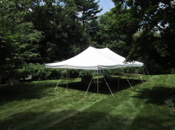 20x30 Pole Tent White